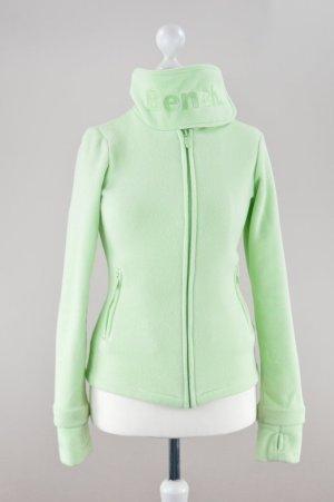 Bench Pullover Klettkragen grün Größe S