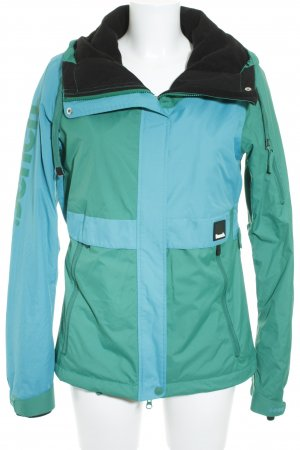 Bench Raincoat cornflower blue color blocking athletic style