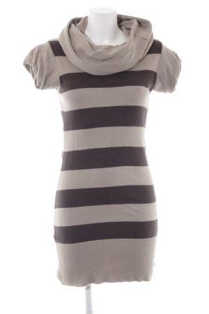 Bench Rollkragenshirt beige-dunkelbraun Streifenmuster Casual-Look