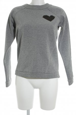 Bench Rundhalspullover Motivdruck Casual-Look