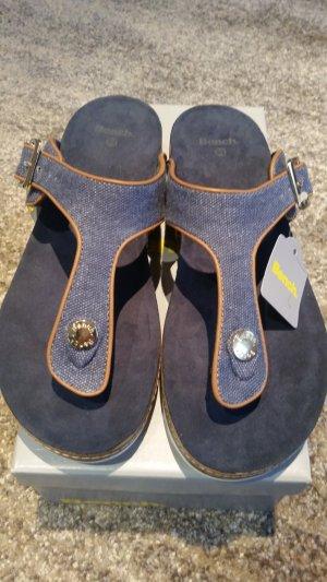 Bench Flip-Flop Sandals bronze-colored-steel blue