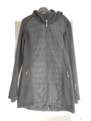 Bench Shenanigan Damen Softshell Mantel Jacke lang schwarz Übergangsjacke