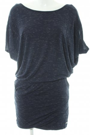 Bench T-shirt jurk donkerblauw-wit gestippeld casual uitstraling