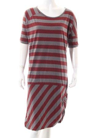 Bench Shirtkleid rostrot-grau Streifenmuster Beach-Look