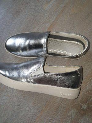 Bench Pantoffels wit-zilver