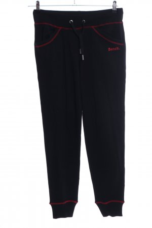 Bench Sporthose schwarz-rot Casual-Look