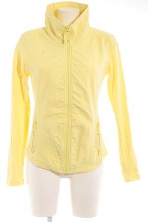 Bench Sportjacke gelb-weiß Casual-Look