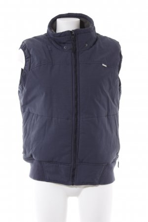 Bench Quilted Gilet dark blue simple style