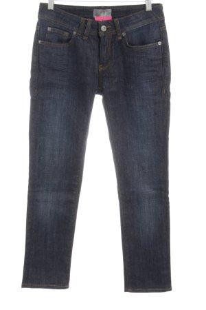 Bench Jeans met rechte pijpen neon blauw casual uitstraling