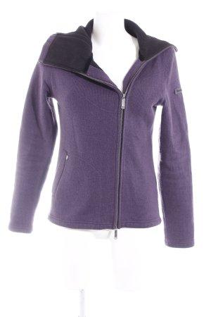 Bench Cardigan dark violet-silver-colored casual look