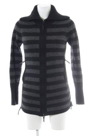 Bench Giacca in maglia nero-grigio scuro modello web stile casual