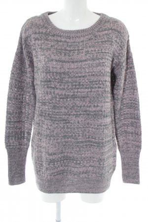Bench Strickpullover hellgrau-pink meliert Casual-Look