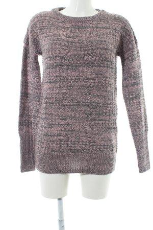 Bench Maglione lavorato a maglia rosa antico-grigio puntinato stile romantico