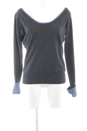 Bench Gebreide trui lichtgrijs-blauw casual uitstraling