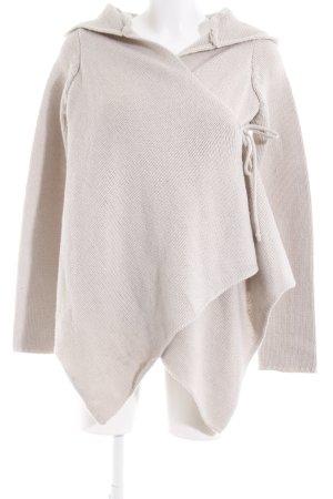 Bench Cache-cœur en tricot beige clair motif à chevrons style décontracté