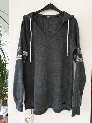 Bench Hooded Sweatshirt dark grey cotton