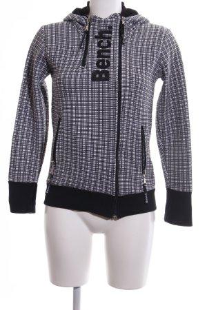 Bench Sweatjacke schwarz-weiß grafisches Muster Casual-Look