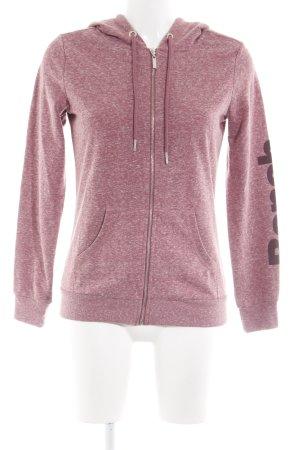 Bench Sweatjack roze gestippeld atletische stijl