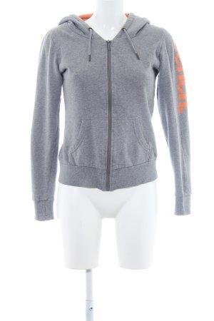 Bench Veste sweat gris-orange moucheté style décontracté