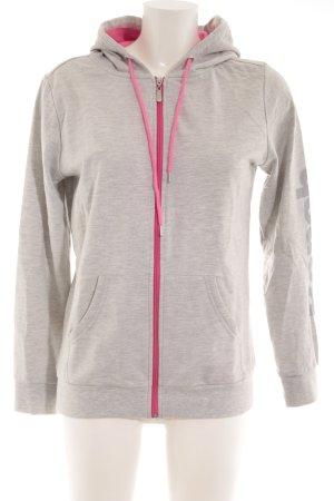 Bench Sweatjacke hellgrau-pink sportlicher Stil