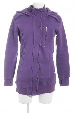 Bench Sweatjacke lila Casual-Look