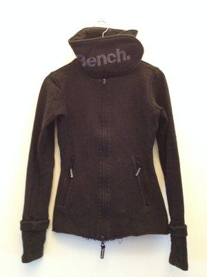 Bench Sweatjacke mit breitem Kragen
