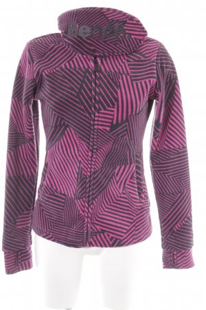 Bench Sweatjacke pink-anthrazit Casual-Look