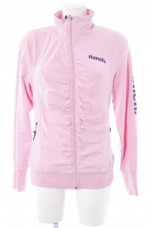 Bench Sweat Jacket pink-dark violet embroidered lettering athletic style