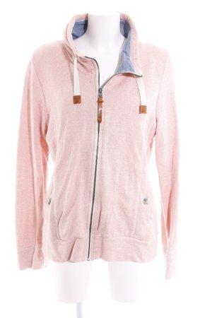 Bench Sweatjacke rosa-wollweiß meliert Casual-Look