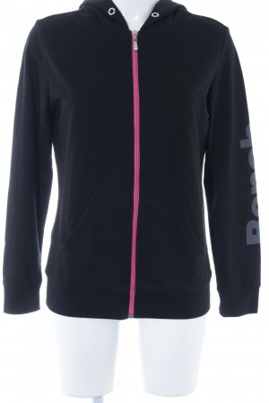 Bench Sweatjacke schwarz-pink sportlicher Stil