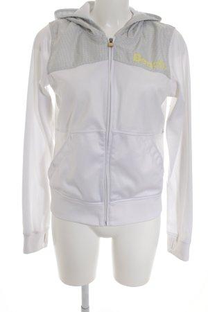 Bench Sweatjacke weiß-hellgrau Karomuster sportlicher Stil