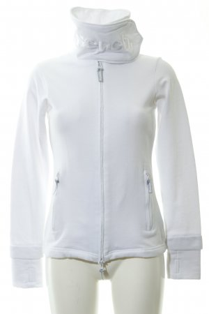 Bench Sweat Jacket white embroidered lettering simple style