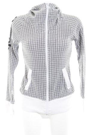 Bench Sweatjacke weiß-schwarz grafisches Muster Casual-Look