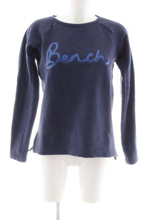 Bench Sweatshirt dunkelblau Casual-Look