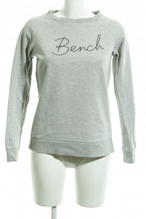 Bench Sweatshirt hellgrau-dunkelgrau Casual-Look