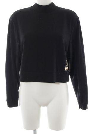 Bench Sweatshirt schwarz-goldfarben Casual-Look