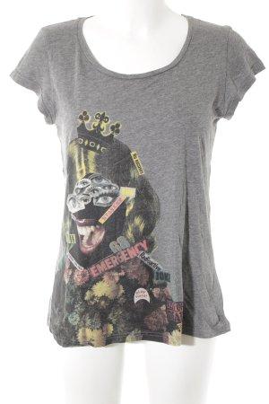 Bench T-shirt motivo astratto stile casual