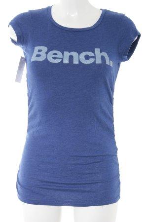 Bench T-Shirt blassblau-blau Schriftzug gedruckt Casual-Look