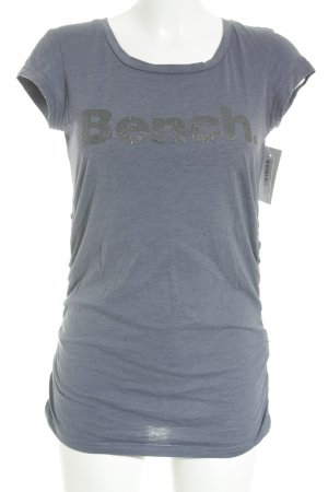 Bench T-Shirt graublau grafisches Muster Casual-Look