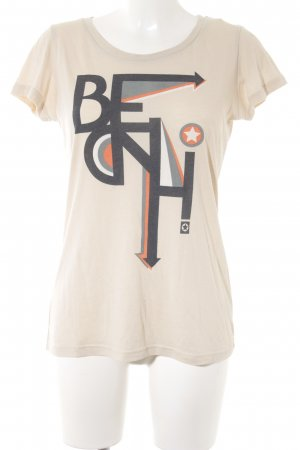 Bench T-Shirt hellbeige-creme Motivdruck Casual-Look