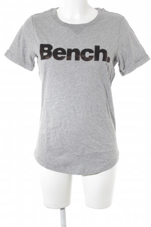 Bench T-Shirt hellgrau-goldfarben Casual-Look
