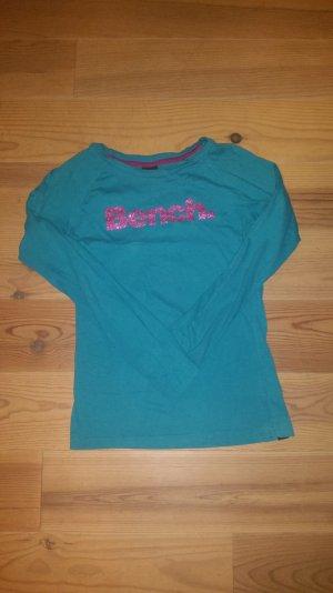 Bench T-Shirt mit großem Glitzerlogo auf der Brust
