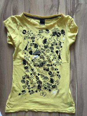 Bench T-Shirt Oberteil Top Größe S 36 neu gelb