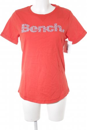 Bench T-Shirt rot grafisches Muster Casual-Look