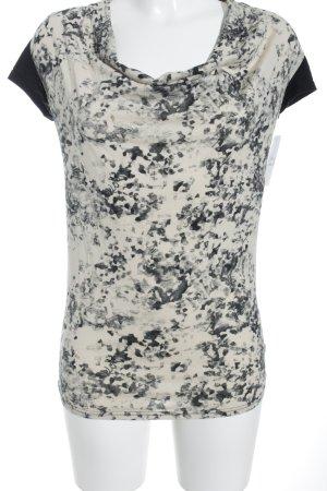 Bench T-shirt nero-crema motivo astratto stile casual
