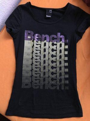 Bench T-Shirt shirt oberteil schwarz größe s 36
