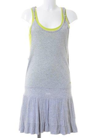 Bench Trägerkleid hellgrau-neongrün sportlicher Stil