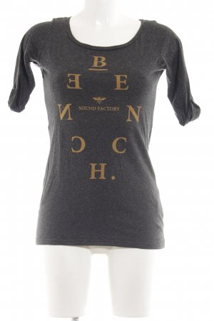 Bench Boothalsshirt zwart-licht Oranje gedrukte letters casual uitstraling