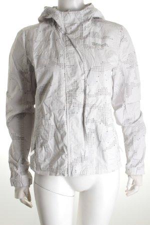 Bench Übergangsjacke grau-blasslila Punktemuster Street-Fashion-Look