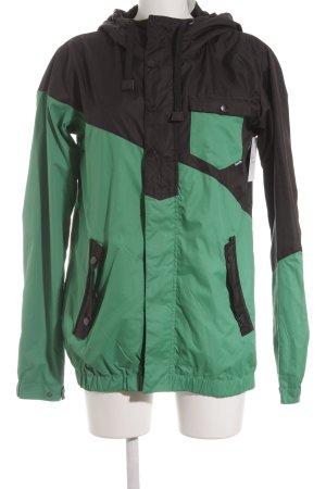 Bench Overgangsjack zwart-groen casual uitstraling
